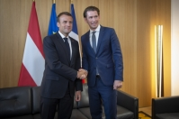 From left to right: Mr Emmanuel MACRON, President of France; Mr Sebastian KURZ, Austrian Federal Chancellor. Shoot location: Bruxelles - BELGIUM Shoot date: 28/06/2018 Copyright: European Union